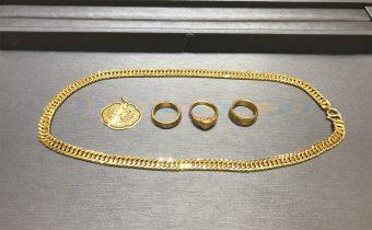 黃金回收實例-黃金套鍊、黃金戒指、金鎖片回收