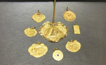 黃金回收實例-黃金墜子、黃金項鍊、金鎖片回收
