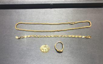 黃金回收實例-黃金項鍊、手鏈、戒指、金鎖片回收